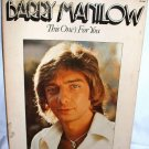 1976 Barry Manilo Songbook This Ones for You Song Sheet