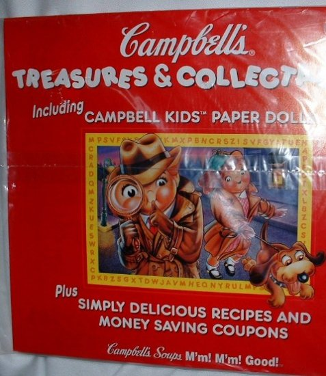 Campbell Kids 1998 Calendar with Paper Dolls Factory Sealed