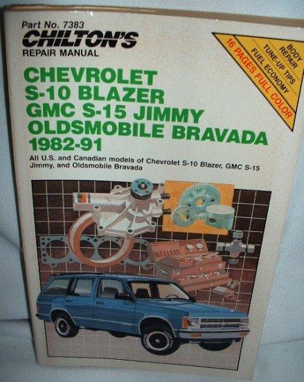 Chevrolet S-10 Blazer GMC S-15 Jimmy 1982-91 Oldsmobile Bravada Manual