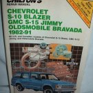 Chevrolet S-10 Blazer GMC S-15 Jimmy 1982-91 Oldsmobile Bravada Manual