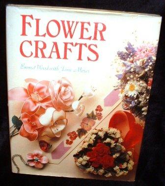 Flower Crafts by Emma Wood Jane Merer 1982 Vintage Hardcover Book Nonfiction