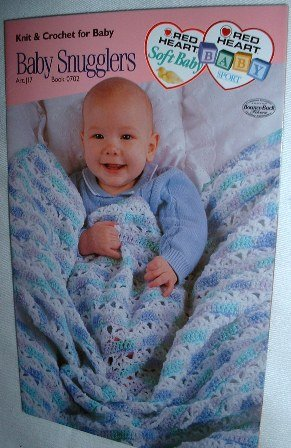 Red Heart Knit and Crochet Baby Snugglers Blankets 4 Pattern 2003 Booklet / Leaflet