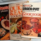Softcover Vintage Cookbooks lot3 Crock-Pot Pasta Please Quick n Easy Cookbook
