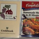 Campbell's Meals in Minutes 2000 and Accent on Home 1996 Cookbooks Booklets