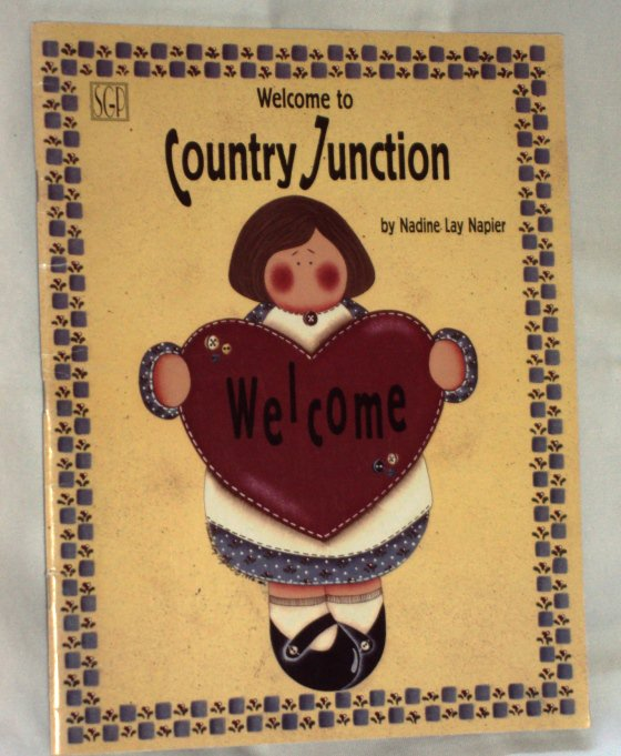 Tole Painting Booklet Welcome to Country Junction by Nadine Lay Napier 1996
