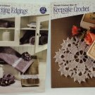 Keepsake Crochet & Exciting Edgings by Coats & Clark (2) Booklet Set Dated 2003