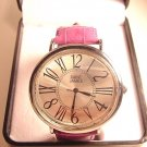 ROSS- SIMONS Embossed Berry Leather Strap Watch