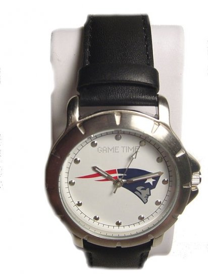 Men's NFL Patriots Leather Band Watch