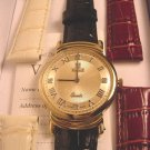 VICENCE Large Diamond Accent 14K Watch w/ 3 Straps