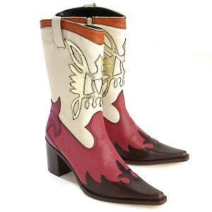Diego Di Lucca Women's Fuschia Cowboy Boots SZ 10