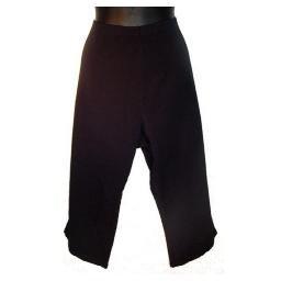 DENIM AND COMPANY Black Classic Waist Crosstretch Capri Pants SZ 3X