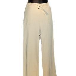 DENIM AND COMPANY Khaki Stretch Denim Pull-on Pants w/ Tab Detail SZ 1X
