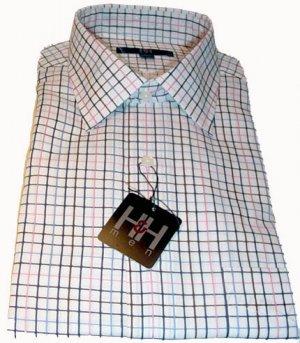 Hilliard and Hanson Men's Long Sleeve Dress Shirt SZ 17-17 1/2  NEW