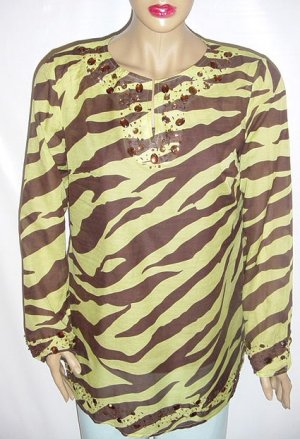 RANDOLPH DUKE 2 PC Embellished Shirt Set NWT SZ 8