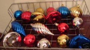 Aluminum Christmas Tree Ornament LOT of 15