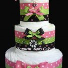 Retro Mommy Diaper Cake, Baby Shower Centerpiece