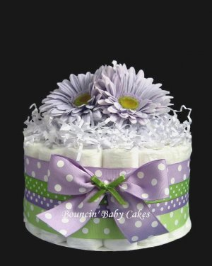 1 Tier Mommy-to-Be Baby Shower Diaper Cake/ Centerpiece Gift