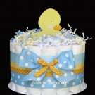 1 Tier Ducky Duck Baby Shower Diaper Cake/ Centerpiece