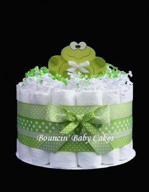 1 Tier Baby Frog - Baby Shower Diaper Cake/ Centerpiece