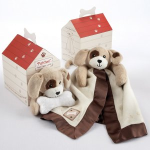 """""""Patches"""" Plush Puppy Lovie in Adorable Dog-House Gift Box"""
