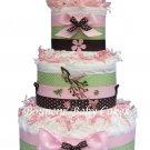 Trendy Birds Baby Shower Diaper Cake Centerpiece