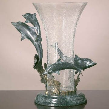 Dolphin Quartet with Vase
