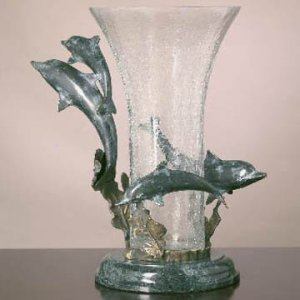 Dolphin Quartet with Vase