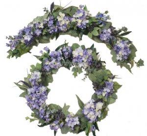 Lavender Hydrangea Arch and Wreath