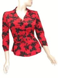 LADIES TOP/ BOUSE WITH BELT