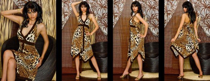 celebrity leopard evening dress cocktail wedding partygown