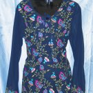 Semi Georgette Machine Work blue kurta
