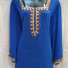 Semi Georgette Hand work Blue Kurti