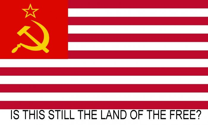 IS THIS STILL THE LAND OF THE FREE? T-SHIRT: Size L