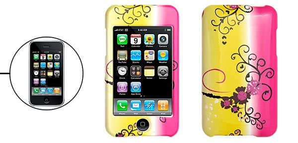 Hard Plastic Case with Flower Pattern for IPod Touch 2nd Generation �Free Shipping to Worldwide�