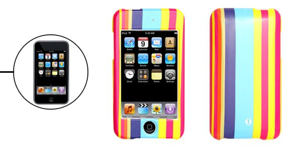 Colorful Stripe Design Hard Plastic Case iPod Touch 2nd Generation�Free Shipping to Worldwide�