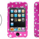Silvery Star&Pinkish Hard Plastic Case for iPod Touch 2nd Generation(Free Shipping to Worldwide)