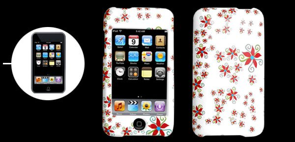 White Hard Plastic Case&Windmill Design.iPod Touch 2nd Generation�Free Shipping to Worldwide�