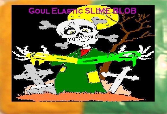 Yellow & Green Halloween Slime Props