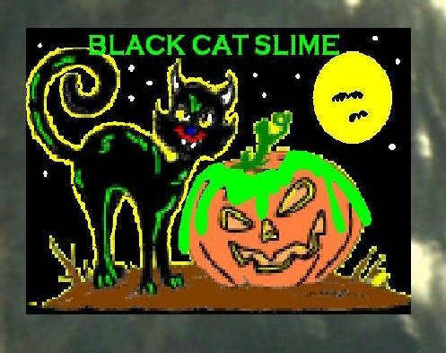 Black Cat Halloween Haunted House Slime Props