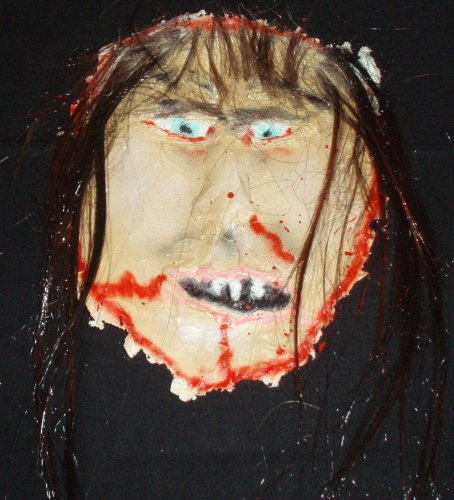 Skinned Brw Hair Face Halloween Haunted House Prop Props