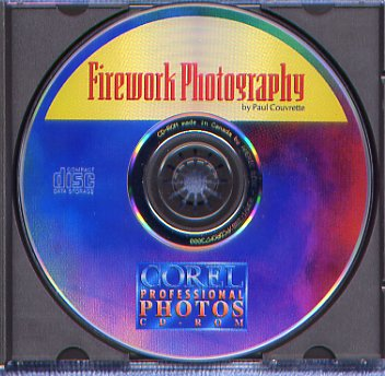 Corel clipart CD - FIREWORK PHOTOGRAPHY - 100 images