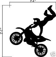 Wall Vinyl Decals Stickers - Dirtbike Rider MX X Games