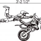 Wall Vinyl Decals Stickers Dirtbike Rider MX X Games #4
