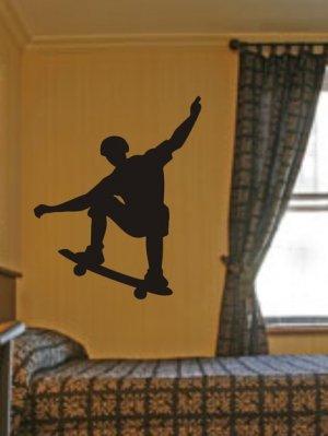 SKATEBOARDER DECAL STICKER SKATEBOARD WALL MURAL X GAMES BOY TEEN ROOM