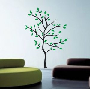 Huge Modern Tree Wall Decal Sticker Nature Nursery Baby Kid Boy Girl Room