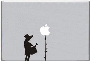 Girl Watering Apple Tree Decal Macbook Mack Computer Laptop Sticker