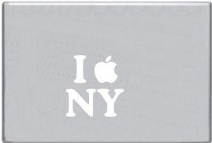 .I Apple New York Decal Sticker for Macbook mac Computer Laptop