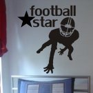 Football Star  Decal sticker wall kids boy sports cool