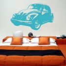 Volkswagen Bug Decal Sticker Wall Graphic Car VW Bug Racing Hippie Retro Room Beetle