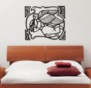 Angel Playing Trumpet decal sticker wall beautiful religious god modern
